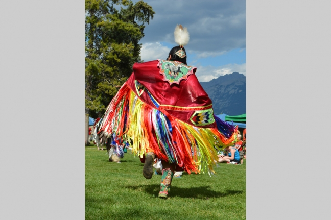 Dancer, Parks Day, Jasper, Alberta, Canada