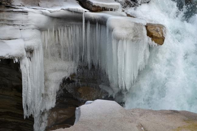 Frozen Athabasca Falls, Jasper National Park, Alberta, Canada