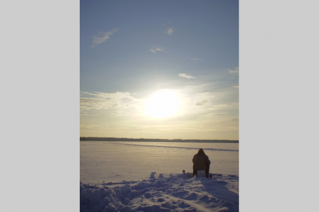 Ice Fishing, Bonnyville MD, Alberta, Canada