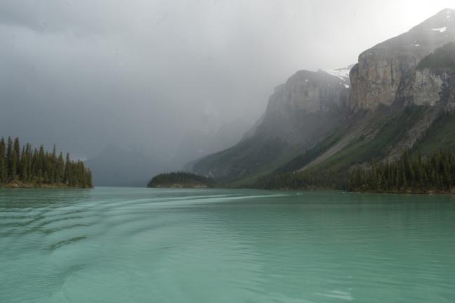 Storm, Malaign Lake, Jasper National Park, Alberta, Canada