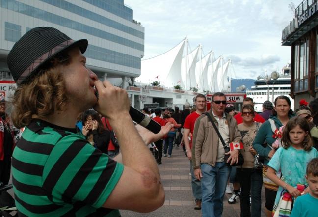 Street Performer, Vancouver, British Columbia, Canada