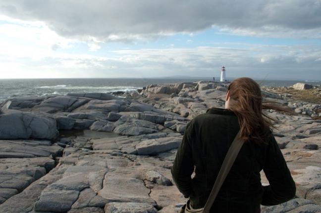 Walking Along the Atlantic Ocean, Nova Scotia, Canada